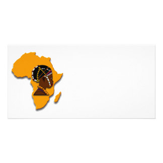 African Woman on the Continent Photo Card Template
