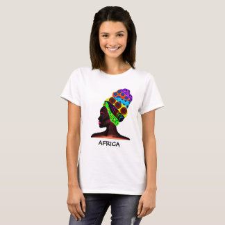 African woman with colorful turban T-Shirt