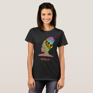 African woman with  turban for her T-Shirt