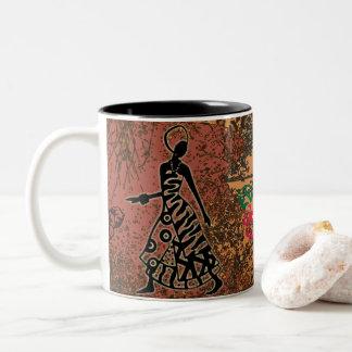 African women hibiscus mug