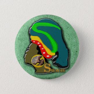 African Women in Green Grass 6 Cm Round Badge