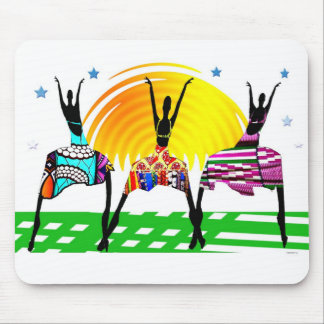 African Women Mating Call Dance Mouse Pad
