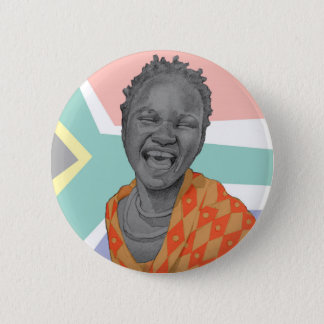 African young woman 6 cm round badge
