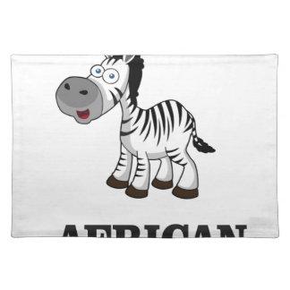 African Zebra Placemat