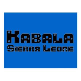 Africankoko Custom Kabala, Sierra Leone Postcard