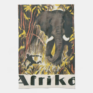 Afrika Vintage Travel Poster Tea Towel