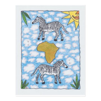 AFRIKA ZEBRAS by Ruth I. Rubin Postcard