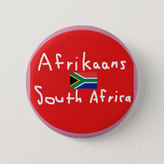 Afrikaans South Africa Language And Flag 6 Cm Round Badge
