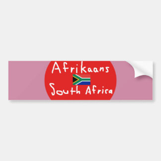 Afrikaans South Africa Language And Flag Bumper Sticker