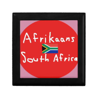 Afrikaans South Africa Language And Flag Gift Box