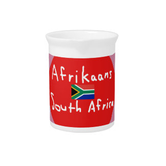 Afrikaans South Africa Language And Flag Pitcher