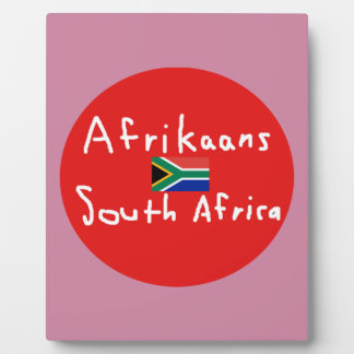 Afrikaans South Africa Language And Flag Plaque