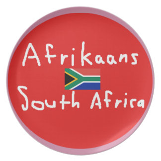 Afrikaans South Africa Language And Flag Plate