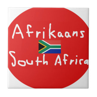 Afrikaans South Africa Language And Flag Tile