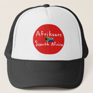 Afrikaans South Africa Language And Flag Trucker Hat