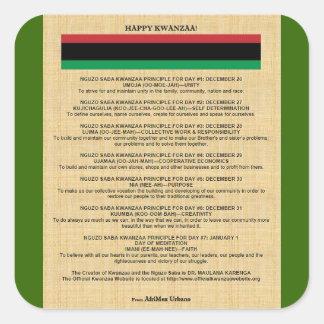 AfriMex Urbano Kwanzaa Series 4 Sticker
