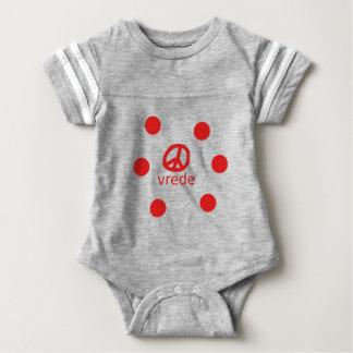 Afrkaans South Africa Peace Symbol Baby Bodysuit