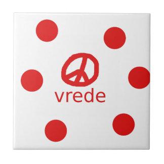 Afrkaans South Africa Peace Symbol Ceramic Tile