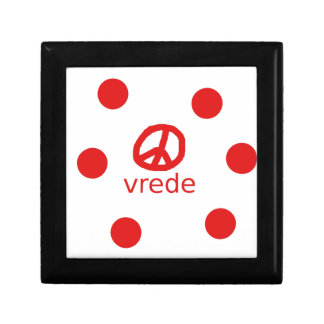 Afrkaans South Africa Peace Symbol Gift Box