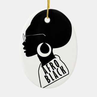AFRO African American Black gift t shirt Ceramic Ornament
