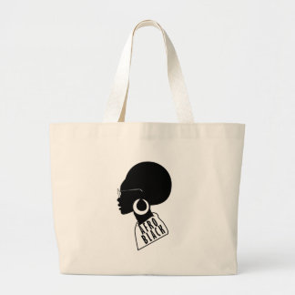 AFRO African American Black gift t shirt Large Tote Bag