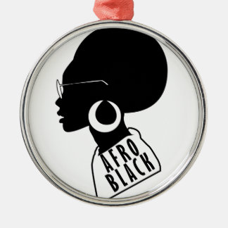 AFRO African American Black gift t shirt Metal Ornament