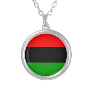 afro american flag afro-american round pendant necklace