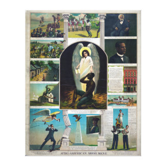 Afro-American Monument, circa 1897 Stretched Canvas Print
