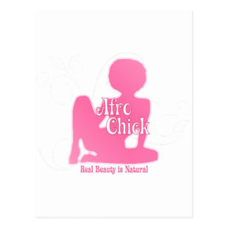 Afro Chick Pk Natural Beauty Postcard