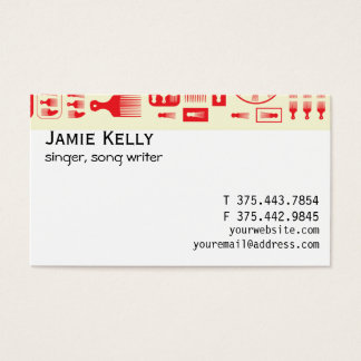 afro Comb  NEW RED.ai Business Card