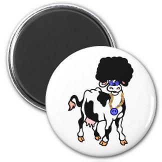 Afro Cow 6 Cm Round Magnet