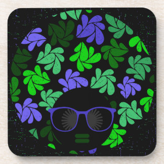 Afro Diva Green & Blue Coaster