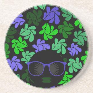 Afro Diva Green & Blue Coaster