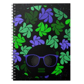 Afro Diva Green & Blue Notebook