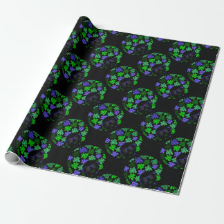 Afro Diva Green & Blue Wrapping Paper