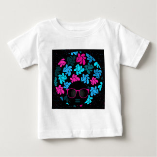 Afro Diva Turquoise & Hot Pink Baby T-Shirt