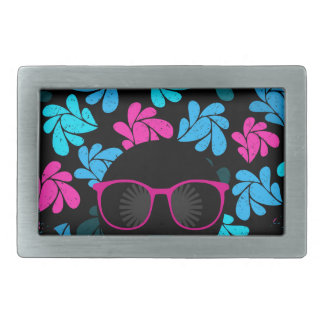Afro Diva Turquoise & Hot Pink Belt Buckle