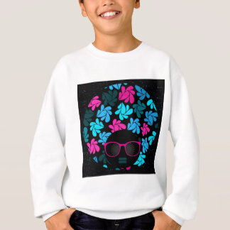 Afro Diva Turquoise & Hot Pink Sweatshirt