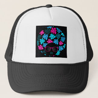 Afro Diva Turquoise & Hot Pink Trucker Hat