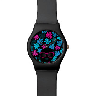 Afro Diva Turquoise & Hot Pink Watch