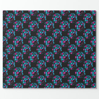 Afro Diva Turquoise & Hot Pink Wrapping Paper