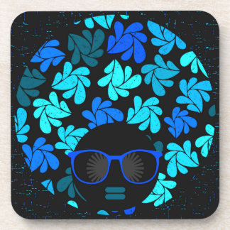 Afro Diva Turquoise Teal Coaster
