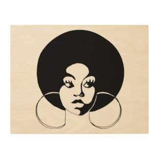 Afro Diva Wood Wall Art