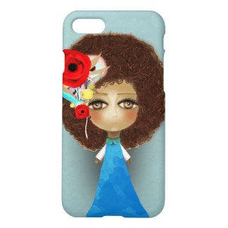 Afro hair art doll whimsical drawing 2018 iPhone 8/7 case
