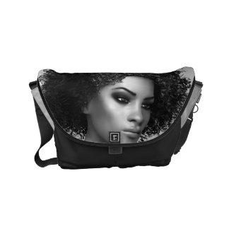 Afro Hair Messenger Bag
