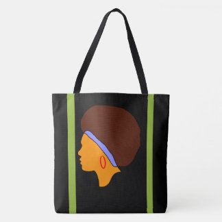 Afro Hair on All-Over Print Tote