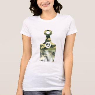 Afro Hair Peace Camo T-Shirt