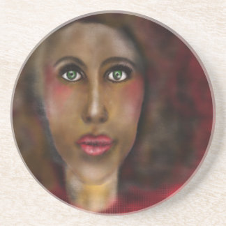 afro lady coaster