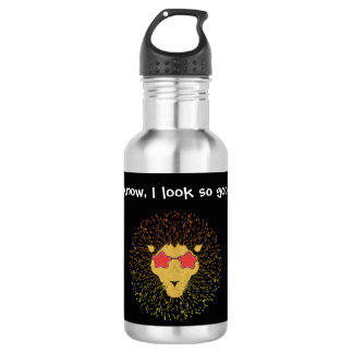 Afro lion in a bottle