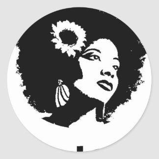 Afro Love Classic Round Sticker